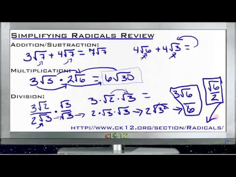 Simplifying Radicals Review: Lesson (Basic Geometry Concepts)