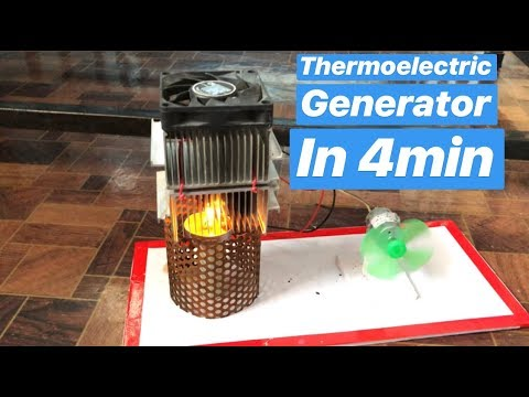 Make thermoelectric generator in 4 min