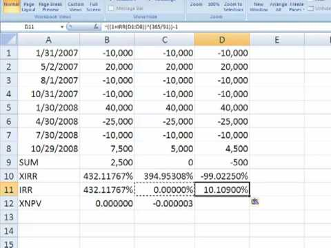 A look at Excel's XIRR function