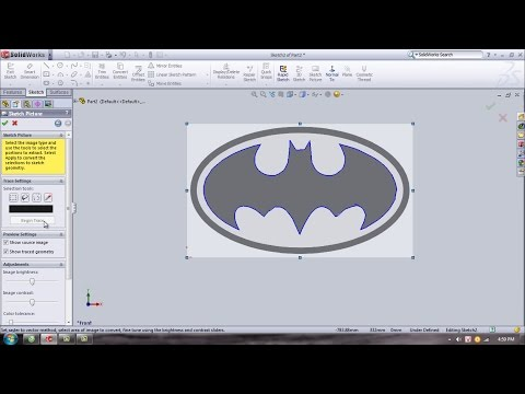 Convert picture to sketch Solidworks