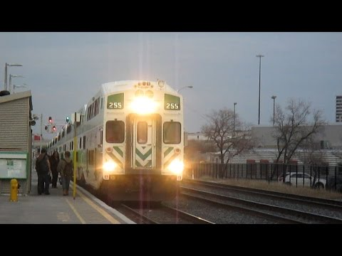 UPX, GO and VIA trains at Etobicoke North - March 9th, 2016