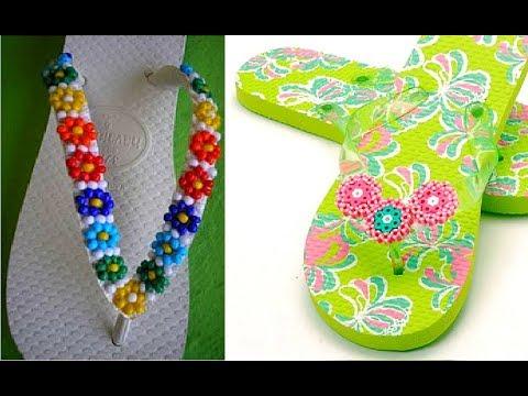 Decorating Flip Flops with Perler Beads