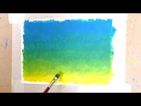 Como hacer una gradación de color con diferentes técnicas de pintura