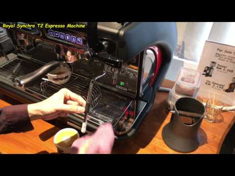 Frothing Milk for a Cafe Latte (Using the Royal Synchro T2 Coffee Machine)