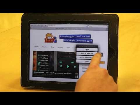 Open a link in a new tab on Safari for iPad