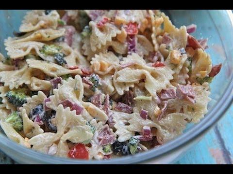 Creamy Bacon Cheddar Ranch Pasta Salad Recipe