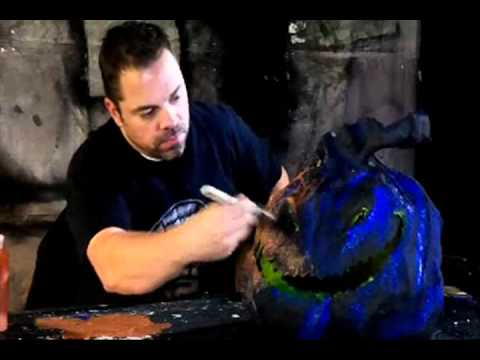 Painting and final seal -- Part 8 of 8 - Paper Mache Pumpkin Head How-to