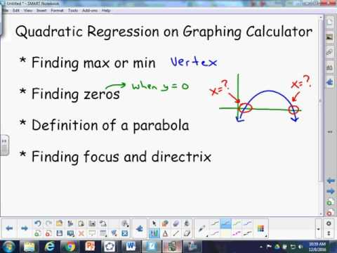 Quadratic Regression and Properties of Parabolas