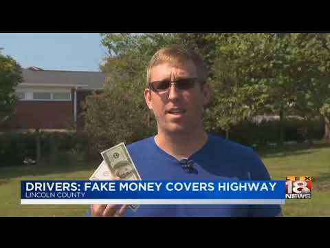 Drivers: Fake Money Covers Highway