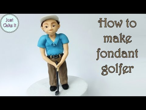 How to make fondant golfer / Jak zrobić figurkę golfiarza z masy cukrowej