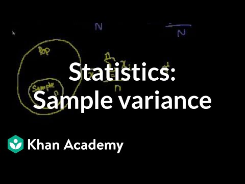 Statistics: Sample variance | Descriptive statistics | Probability and Statistics | Khan Academy