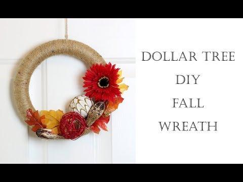 Dollar Tree DIY Fall Wreath   Easiest Tutorial