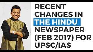 Recent changes in The Hindu newspaper (Feb 2017) - Strategy (UPSC CSE/IAS) - Roman Saini