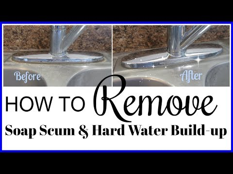Watch Me Clean! How to Remove Soap Scum and Hard Water Build-up! Clean With Me 2017!