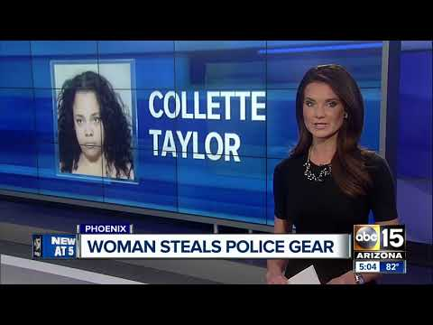 Woman arrested for trying to steal Phoenix police gear