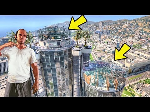 Trevor compra mansão Bilionária no topo de um prédio! GTA 5