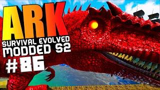 ARK Survival Evolved - DRAGON GOD VS WARDEN BOSSES, PIMP MY DINO