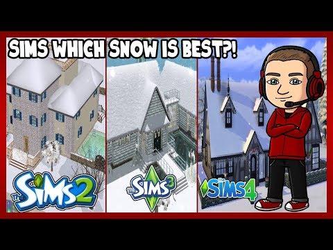 Sims 2 vs. Sims 3 vs. Sims 4 - SNOW