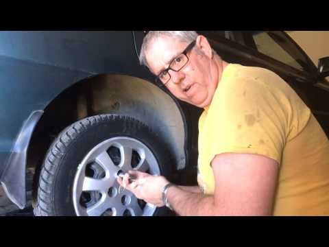 How to loosen a stuck wheel nuts