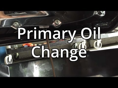 How To Change Harley Davidson Primary Oil On A Street Glide.