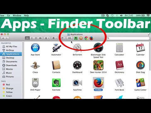 OS X Mavericks Tips : Adding Apps Shortcuts to the Finder Toolbar