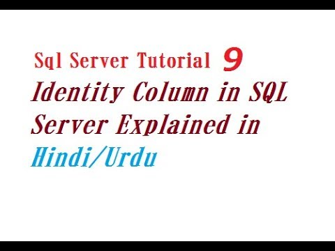 Identity Column in SQL Server Explained in Hindi