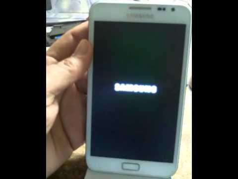 Samsung Galaxy Note GT N7000 hard reset