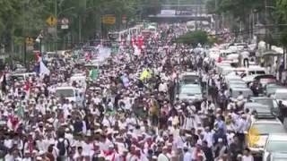 Liputan Aljazeera TV Aksi Bela Agama Di Jakarta
