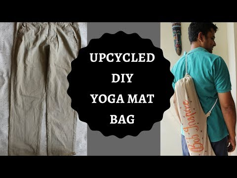 UPCYCLED DIY YOGA MAT BAG || Repurpose Clothing || Trash to Treasure ||Thrifty ||
