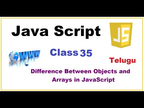 Difference Between Objects and Arrays in Javascript    --   Telugu 33-vlr training