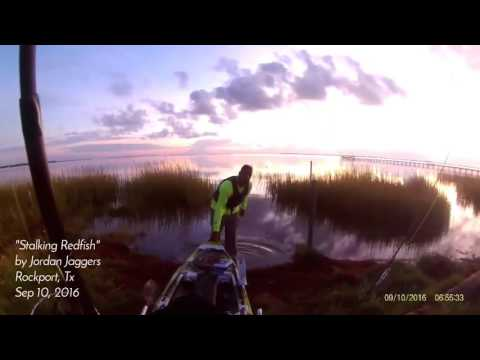Sight casting red fish in Rockport, Tx