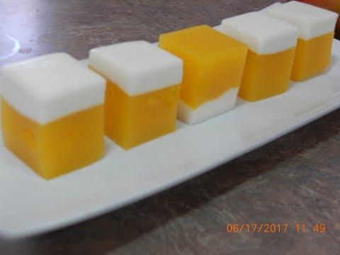 Mango Agar Agar Jelly Dessert Recipe