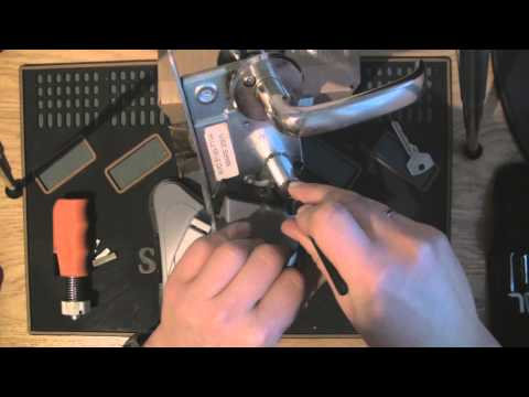 Trioving Deadbolt assembly picked open, and plug spinner used to open the