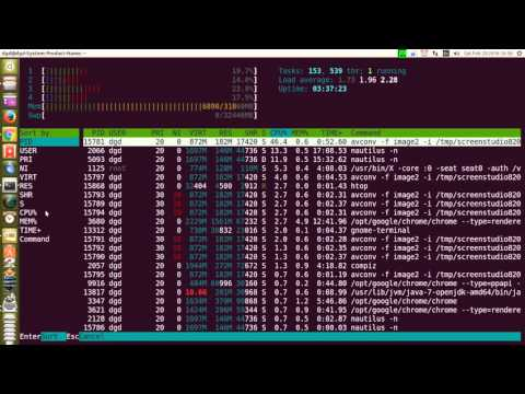 ubuntu 14.04 check your cpu and mem usage using htop 20feb2016