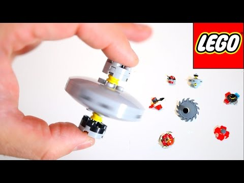 7 MINI Lego Fidget Spinner DIY! How to Make Small Hand Spinners! #legospinners