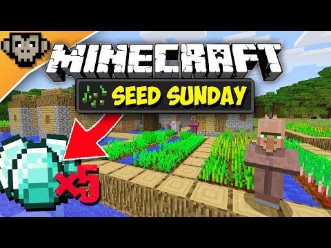 Minecraft 1.12.2 | Roofed Forest Diamond Village | Seed Sunday - Ep253