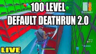 Download The 100 LEVEL DEFAULT DEATHRUN 2.0! (Fortnite Creative) Video
