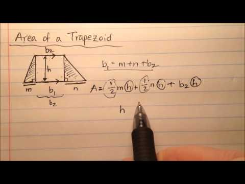 Derive the Formula for the Area of a Trapezoid