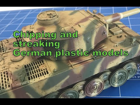 Chipping and streaking German armor plastic model kits, how to