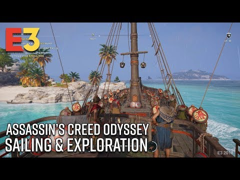 Assassin's Creed Odyssey Sailing & Exploration Gameplay | E3 2018