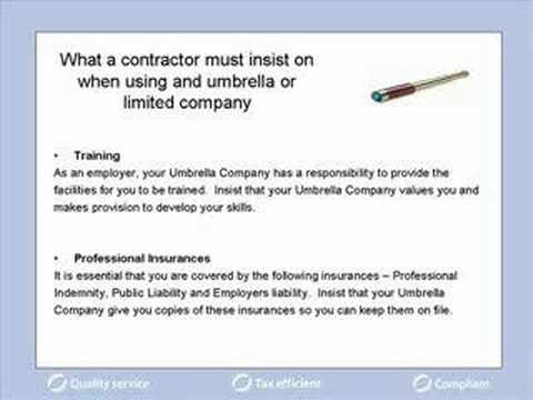 Umbrella company services, what contractors must insist on?