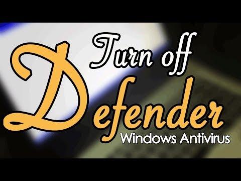 Turn On or Off Windows Defender Antivirus
