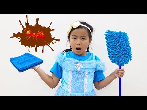 Xxx Mp4 Jannie Pretend Play With Cleaning Toys For Ants Kids Video 3gp Sex
