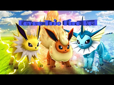How to get the eevee evolutions trio pokemon fire red