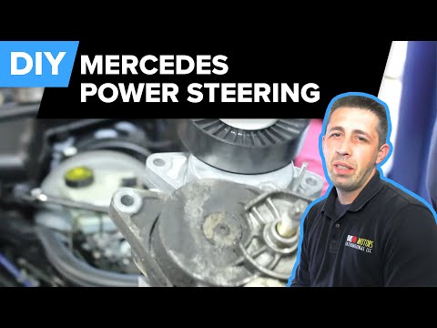 Mercedes Power Steering Replacement (Pump, Reservoir, Drive Belt Tensioner - E320) FCP Euro