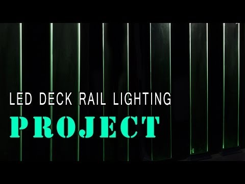 LED Glass Deck Railing