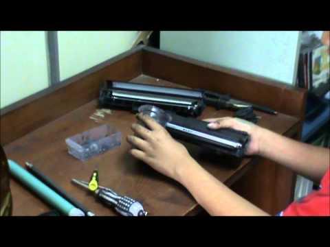 cara mudah dan cepat refill toner tipe 12A - Praktek SMK TI di Pupuk Kujang