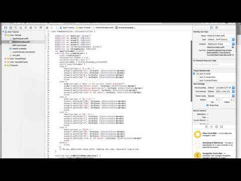 iOS 9 Xcode 7 Swift 2 Tutorial 9: Making a Quiz app part 2