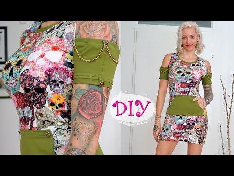 DIY Cold Shoulder Dress Including Pattern