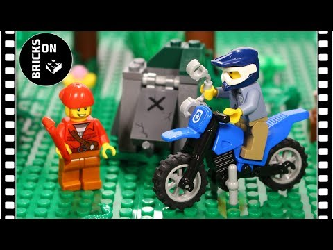 LEGO CITY Mountain Police 60170 Off-Road Chase Speed Build Instruction Stop Motion Brickfilm